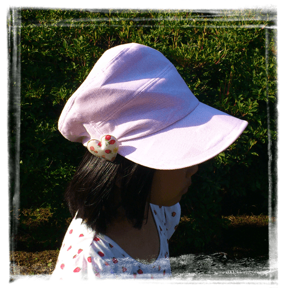 すっきりキャスケット:ピンク・ハート