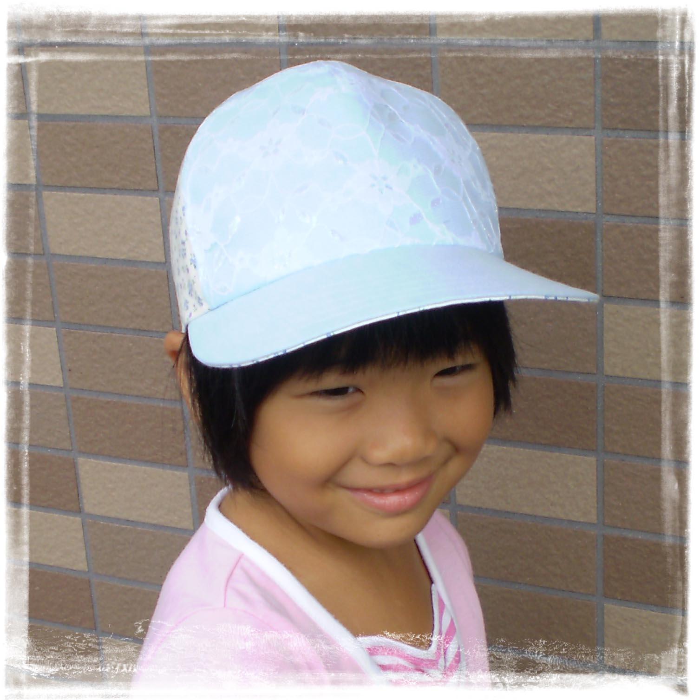 キャップ野球帽女の子水色