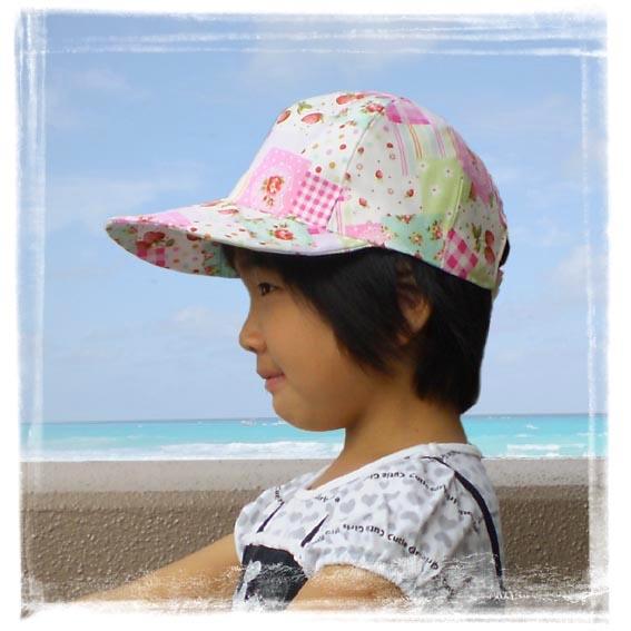キャップ野球帽女の子ピンク