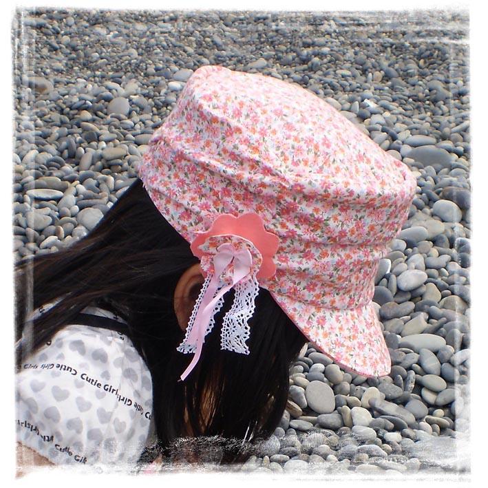 くしゅくしゅケピピンク花柄サイド