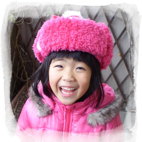 ウシャンカ:ピンクのプードルファー