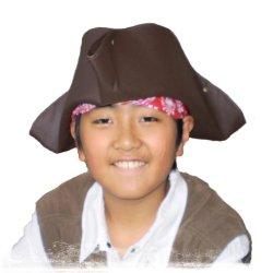 画像1: トリコーン(海賊帽子)/キャペリーヌ(作り方説明書付 実物大型紙)